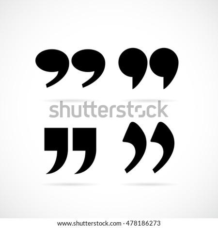 text quote speech commas vector