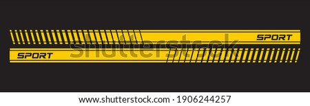 Text Racing car decals. Stripes for sport cars.
