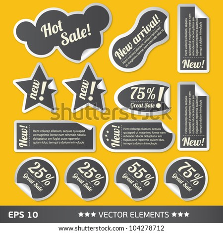 text sale bubbles vector text