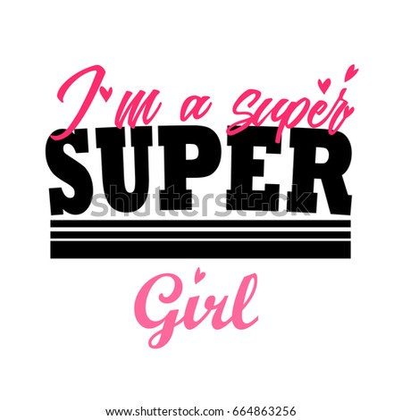 text vector print for girl