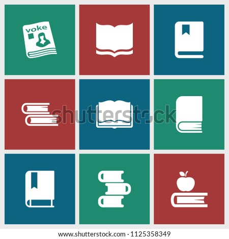 textbook icon. collection of 9...
