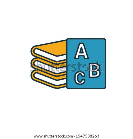 Textbooks icon. Simple element from school icons collection. Creative Textbooks icon ui, ux, apps, software and infographics.