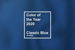 textile cloth coloring in trend classic blue color of the year 2020 for fashion, home, interiors design, stock vector illustration clip art background