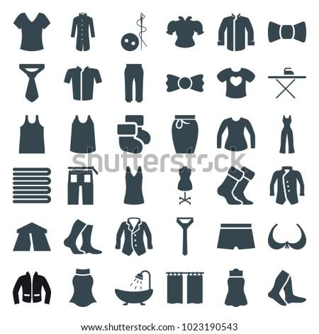textile icons set of 36
