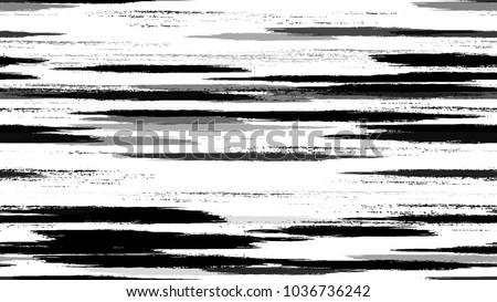 Textile Striped Vector Seamless Grunge Texture. Hand Painted Fashion Seamless Pattern. Painted Watercolor Style Texture. Advertising, Cover Print Design Pattern.