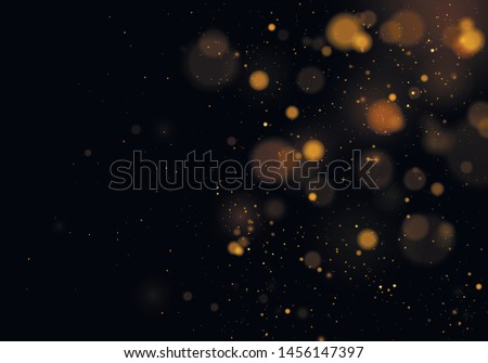 Texture background abstract black and white or silver Glitter and elegant for Christmas. Dust white. Sparkling magical dust particles. Magic concept. Abstract background with bokeh effect. Vector