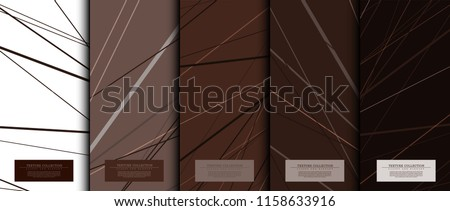 Texture collection abstract pattern texture chocolate brown background card template vector design