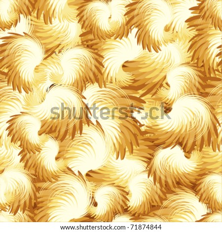 Texture gold wings and plumes