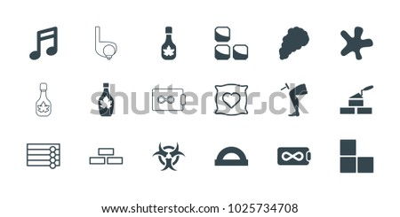 texture icons set of 18