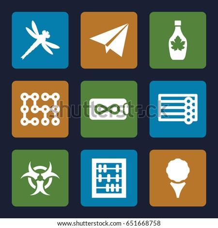 texture icons set set of 9