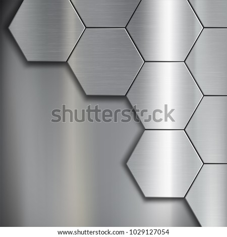 texture of brushed metal from