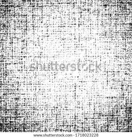 Texture of burlap, canvas.  Vector background, shades of gray.