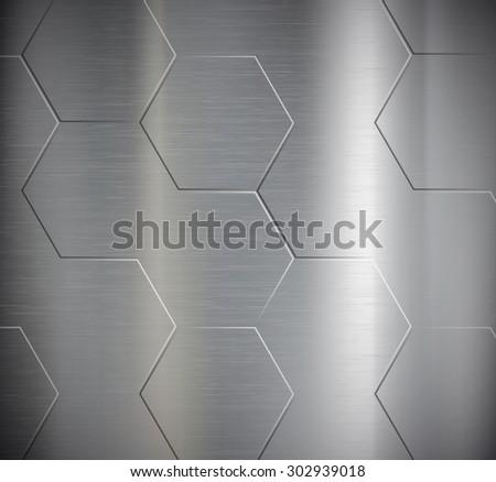 texture of metal geometric