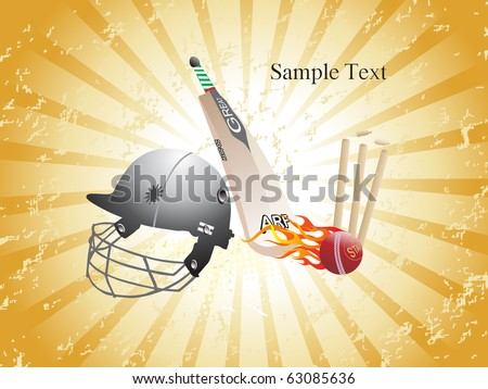 texture rays background with cricket match object