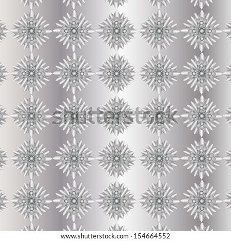Texture Silver Flowers on a