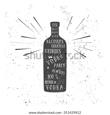 texture vodka bottle vector