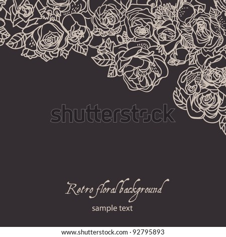Texture with flowers.  Background with flowers