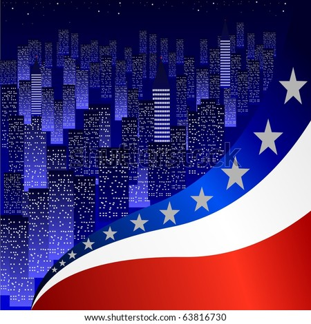 texture with the American flag - stock vector