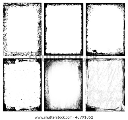 Textured Frames - stock vector