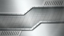 Textured industrial metal background. Vector illustration.