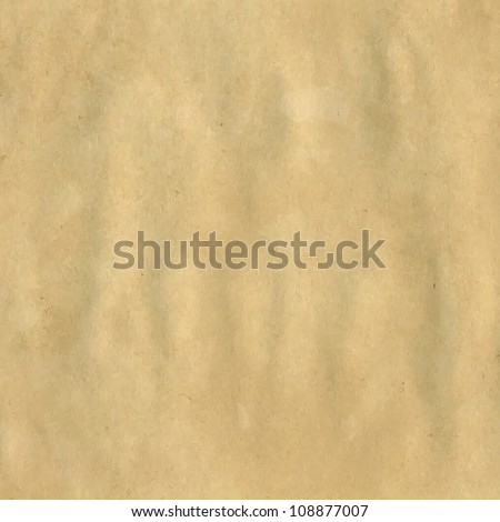 Textured Paper With Natural Fiber Parts, Vector Illustration