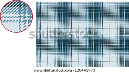 Textured plaid, seamless vector pattern - stock vector