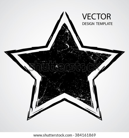 textured star used for stamps