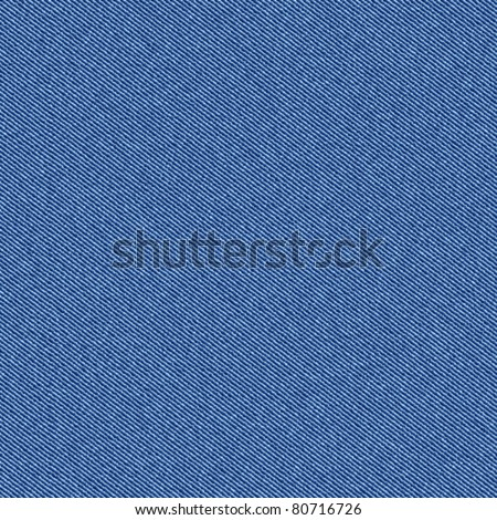 Textured striped blue jeans denim linen fabric background. Design are seamless. Vector.