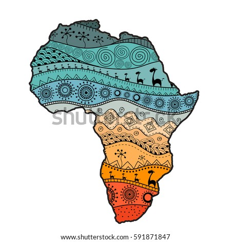 textured vector map of africa