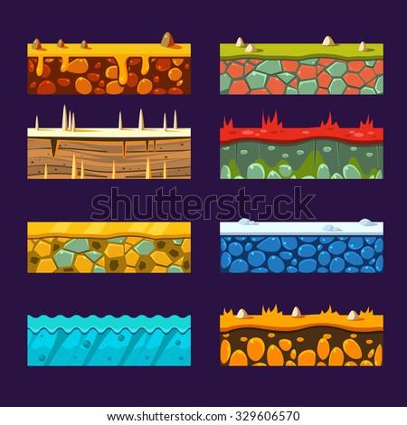 textures for platformers  set