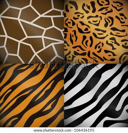 Textures of the safari animals