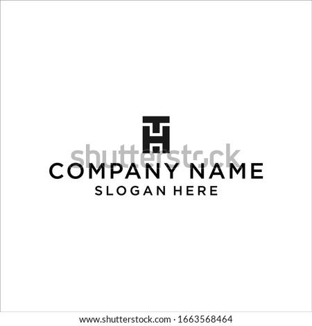 TH logo icon design vector Stock fotó ©