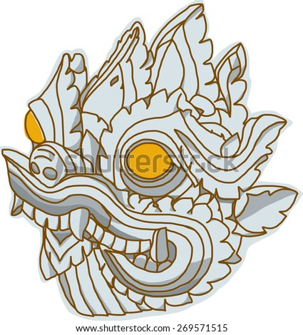 thai art dragon head  singha