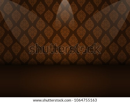 stock-vector-thai-art-golden-brown-pattern-seamless-on-black-background-with-copy-space-vector-illustration-eps