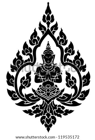 Thai arts angel vector pattern