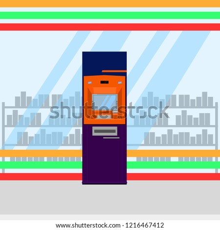 thai atm purple orange service vector illustration eps10 #1216467412