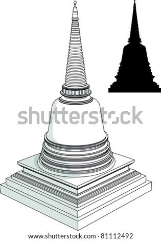 thai bell shaped liked pagoda