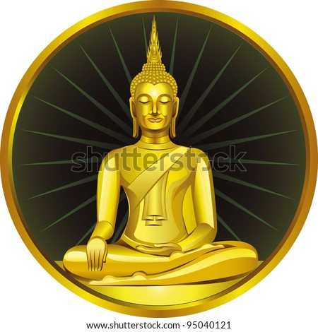 Thai Buddha Golden Statue Buddha Statue in Thailand