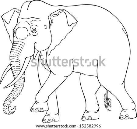 Thai Elephant Vector Thai Elephant Silhouette
