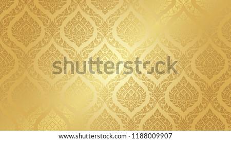 Thai Pattern supreme gold background
