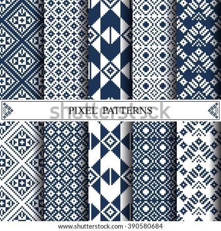 thai pixel pattern  thai