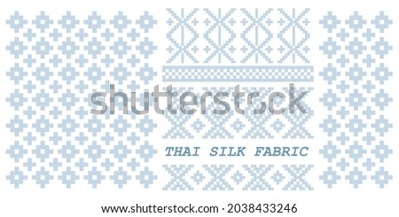 Thai Silk Fabric Pattern.THAI CRAFT Wallpaper, For Clothes, Shirts, Dresses and other textile products. Handwoven Textiles Thai Traditional Textiles.Vector Image