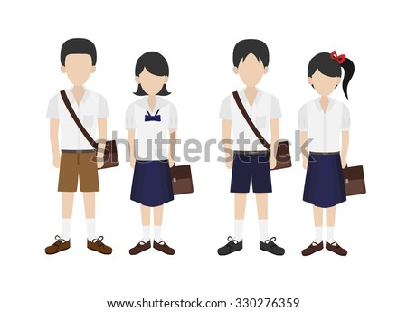 thai student in school uniform