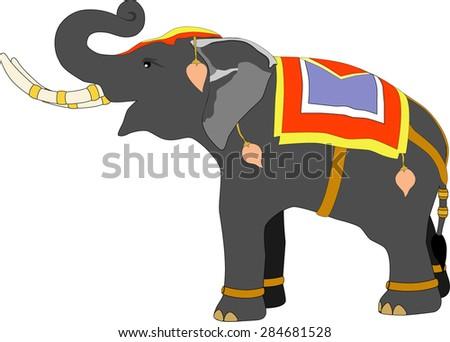 thai warrior elephant