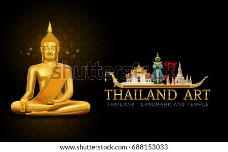 thailand art buddha statue