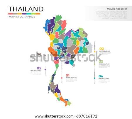 Free Vector Map Of Thailand Free Vector Art At Vecteezy - Thailand regions map