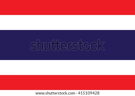 Thailand flag, official colors and proportion correctly. National Thailand flag. Flat vector illustration. EPS10.