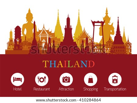Thailand Landmark and Icons, Travel Attraction, Traditional Culture