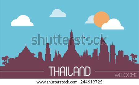 thailand skyline silhouette