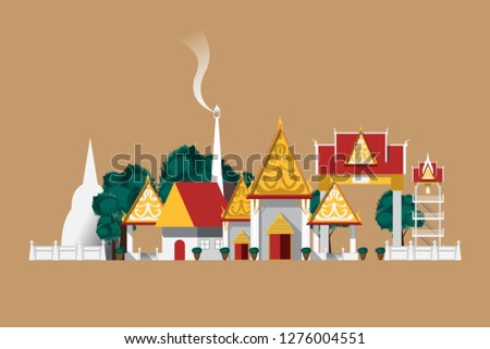 thailand temple in countryside